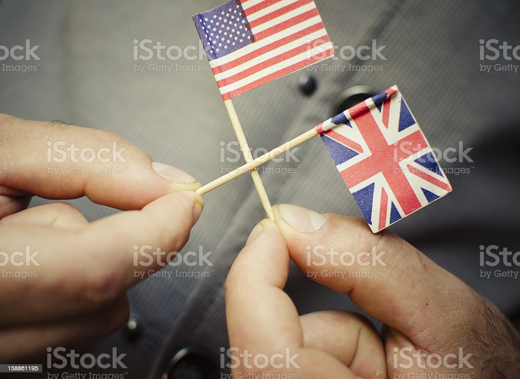 United States and Uk flag , national alleance stock photo