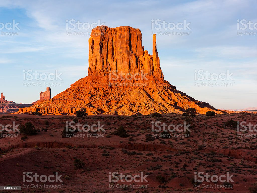 United States. State of Arizona. Monument Valley. West Mitten Butte....