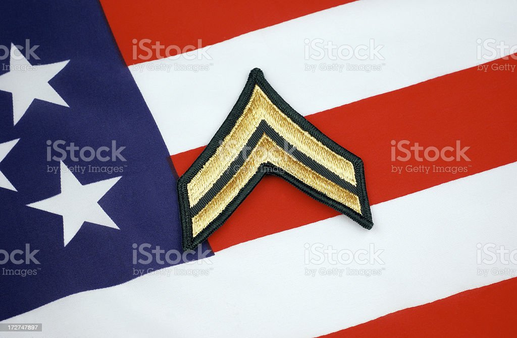 United States Army Corporal Rank royalty-free stock photo