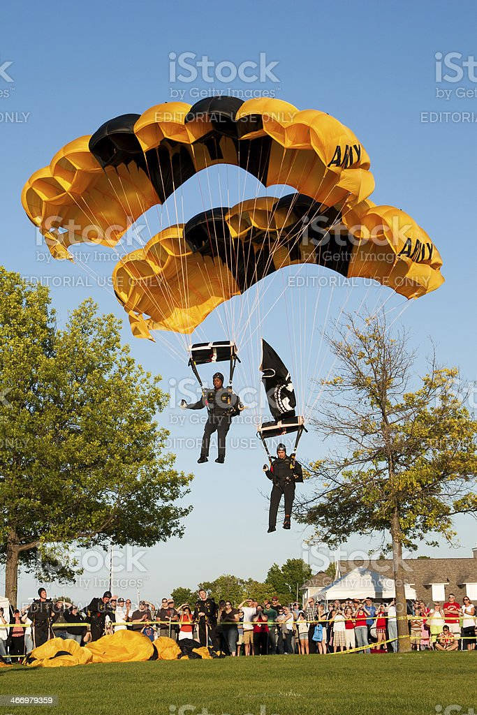 United States Army Golden Knights stock photo