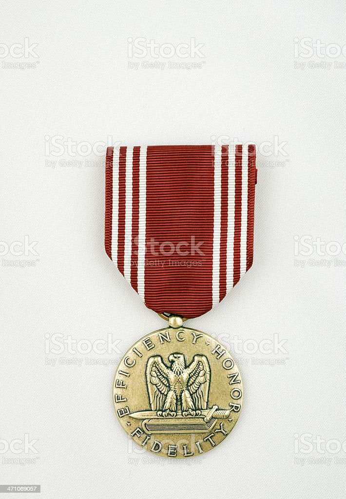 United States Army Good Conduct Medal stock photo