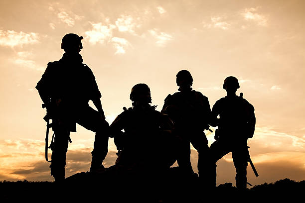 United States Army rangers United States Army rangers on the sunset military recruit stock pictures, royalty-free photos & images
