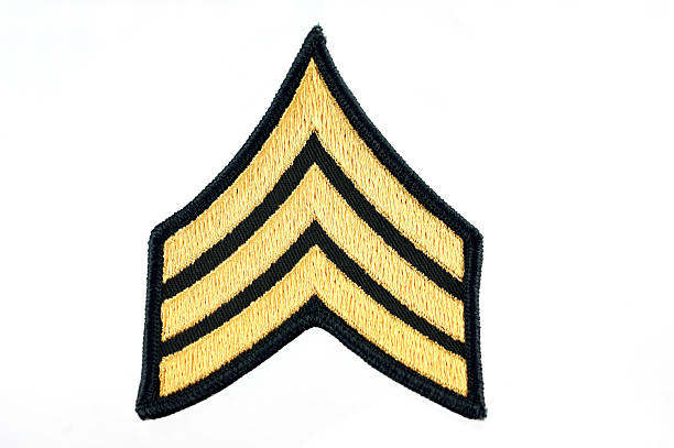 United States Army Sergeant Insignia stock photo