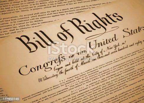 istock United States Bill of Rights Document Replica 172993145