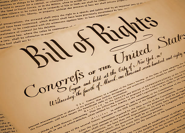United States Bill of Rights Document Replica stock photo