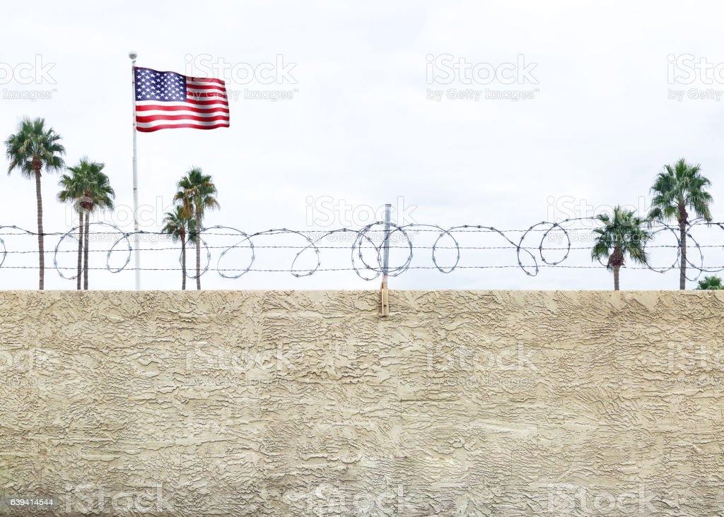 United States Border Wall stock photo