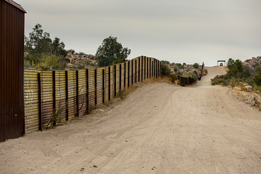 United States Border Wall With Mexico Stock Photo - Download Image Now