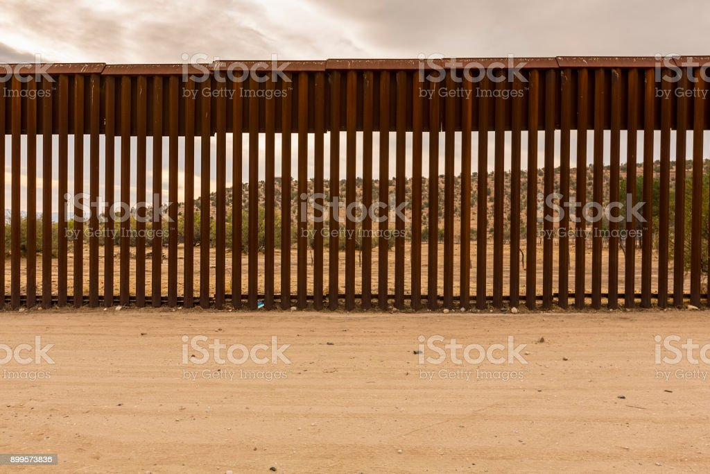 United States Border Wall with Mexico stock photo