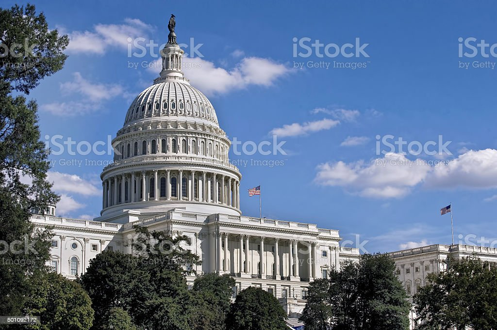 United States Capital Building. stock photo