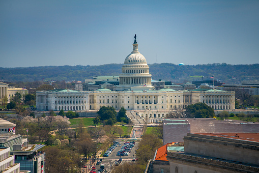 United States Capitol And Pennsylvania Avenue In Washington Dc Stock Photo - Download Image Now