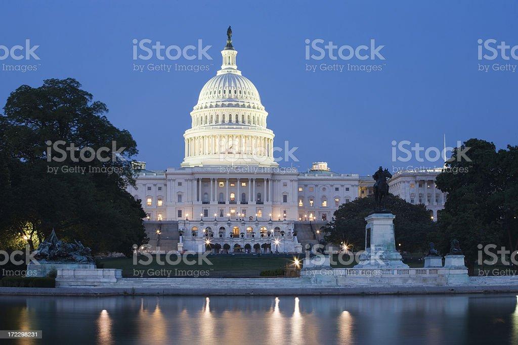 United States Capitol at Dusk royalty-free stock photo