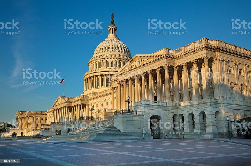 United States Capitol at Sunrise royalty-free stock photo