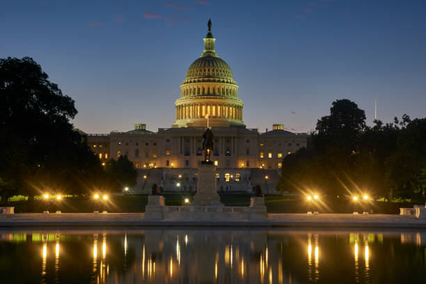 United States Capitol Building bei Sunrise in Washington DC Hauptstadt der USA – Foto