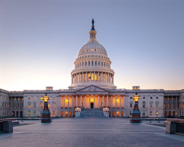 United States Capitol Building at sunset-Washington, DC, USA – Foto