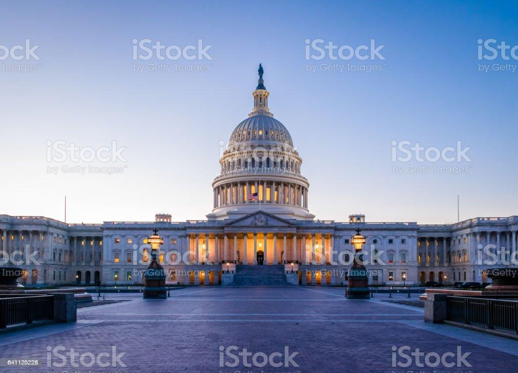 United States Capitol Building at sunset - Washington, DC, USA stock photo