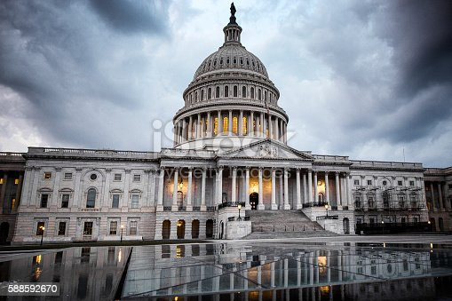 istock United States Capitol Building: Calm Before The Storm 588592670