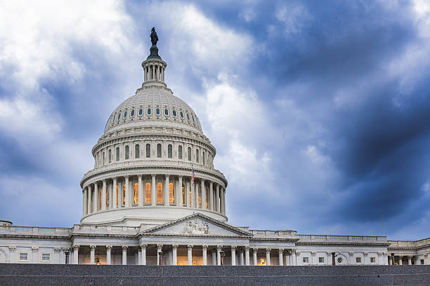 United States Capitol Building: Calm Before The Storm stock photo