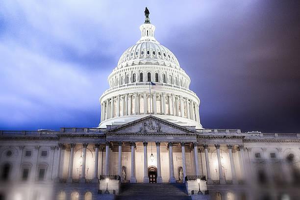 United States Capitol Gebäude Ruhe vor dem Sturm – Foto