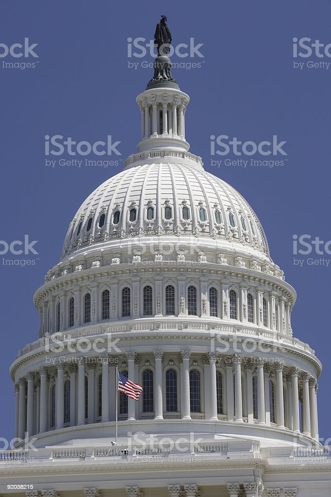 United States Capitol Building Dome stock photo