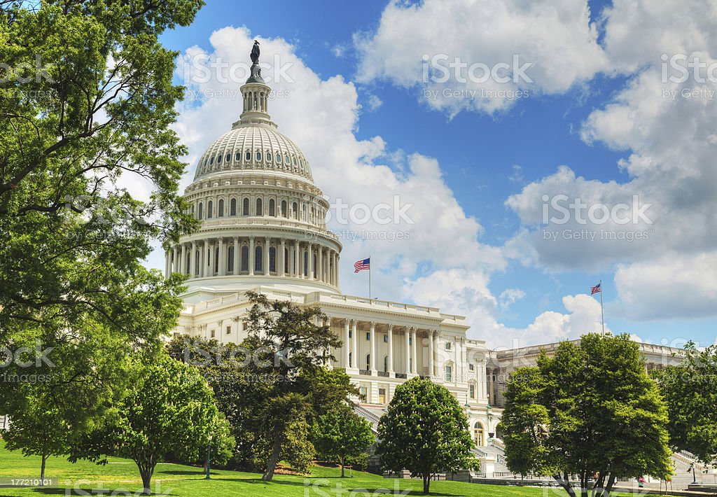 United States Capitol building in Washington, DC royalty-free stock photo
