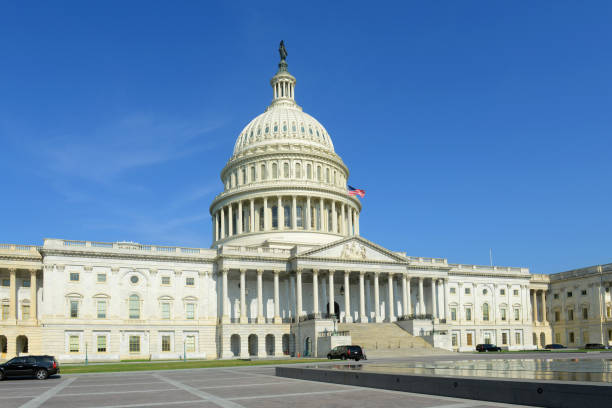 United States Capitol Building in Washington DC, USA stock photo