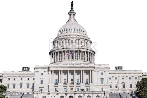 istock United States Capitol Building Isolated On White 487689937