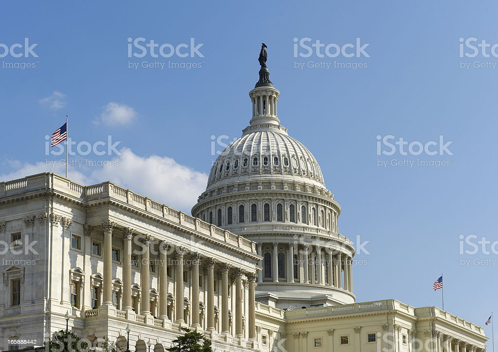 United States Capitol Building royalty-free stock photo