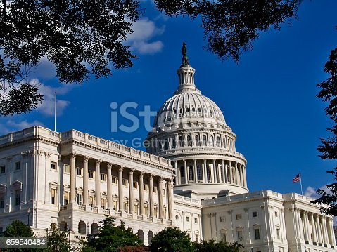 Meeting Place or Work Place for the Government Leaders of the United States of America.  The United States Capitol Building, Washington, D.C.