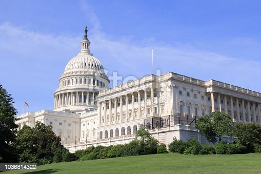 View of the US Capitol from the West Side, South Wing