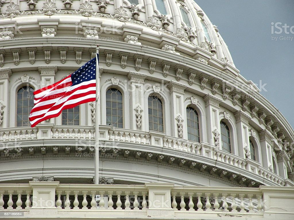 United States Capitol detail stock photo