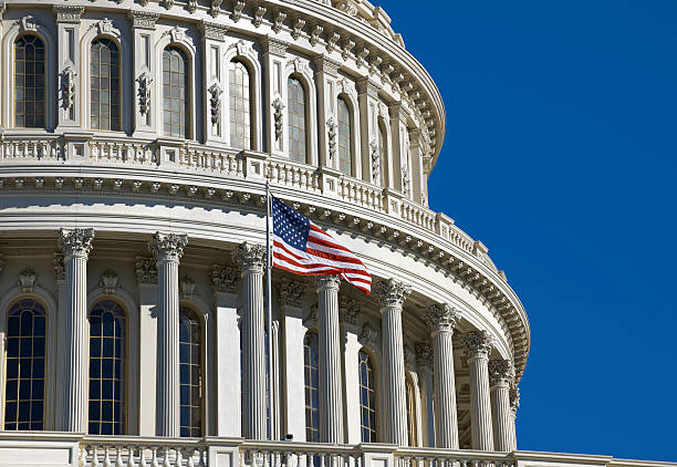 United States Capitol Dome in Washington DC stock photo