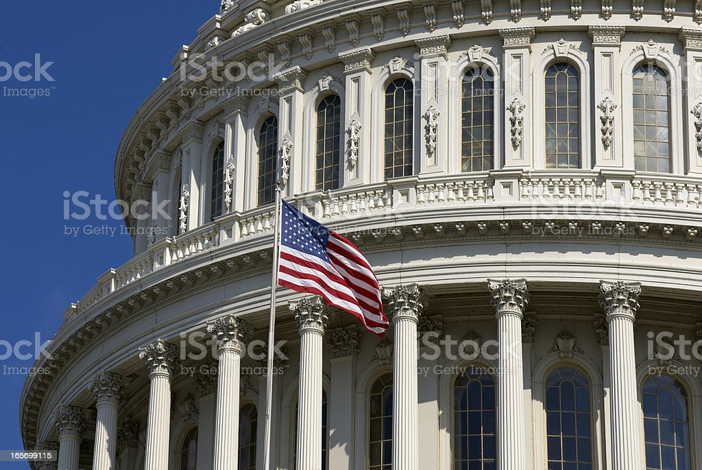 United States Capitol Dome in Washington DC royalty-free stock photo