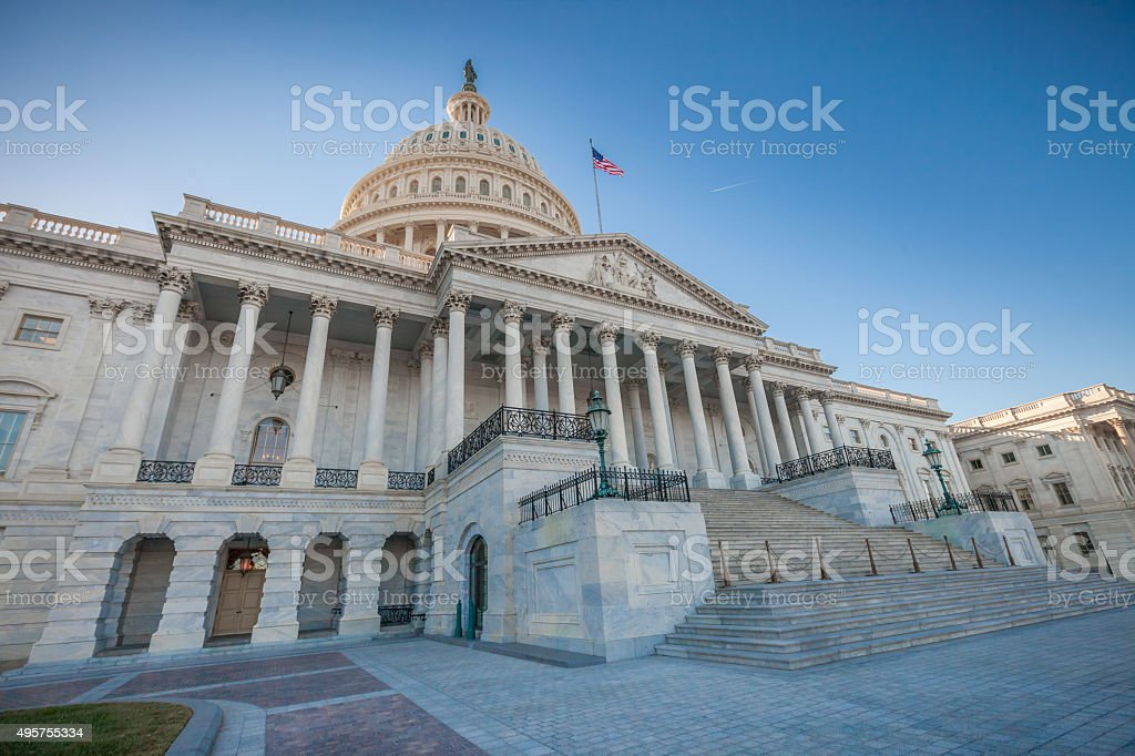 United States Capitol East Facade stock photo