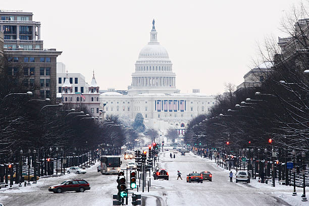 United States Capitol in Winter