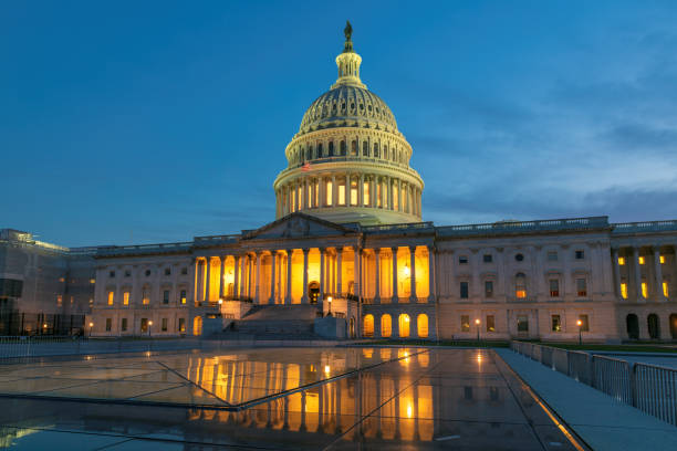 United States Capitol stock photo