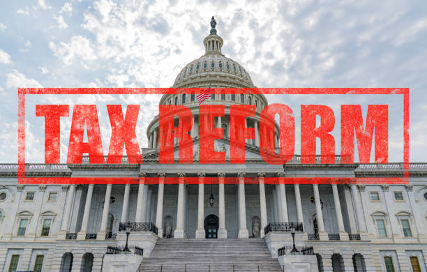 United States Capitol Tax Reform stock photo