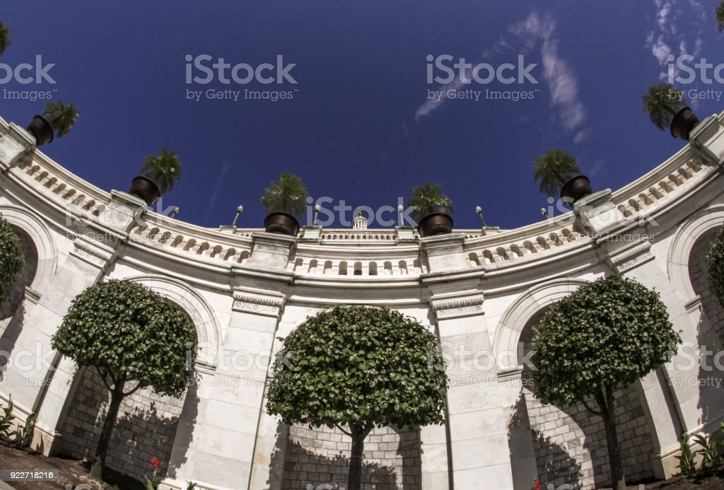 United States Capitol West Colonnade and Terrace in Washington, DC stock photo
