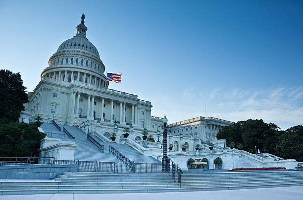 United States Capitol West Facade stock photo