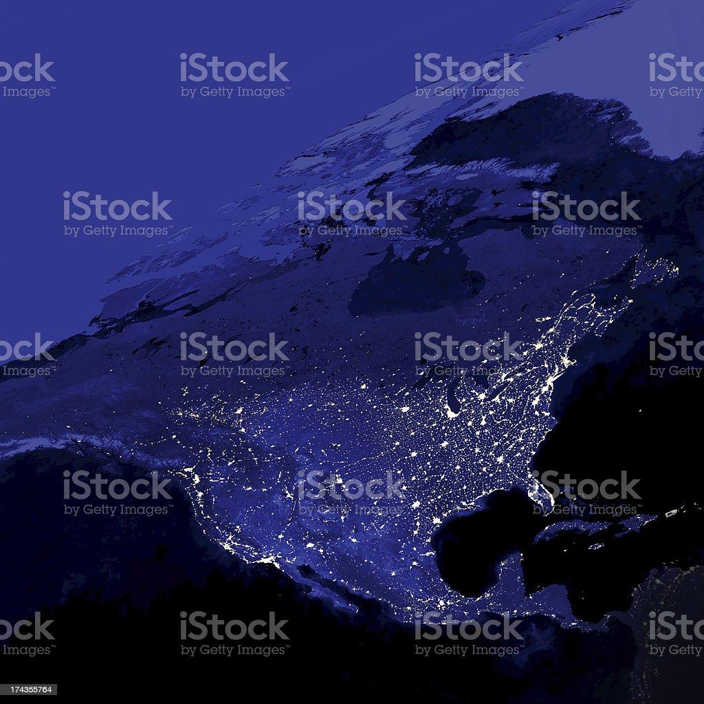 United States City Lights stock photo