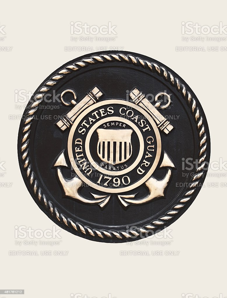United States Coast Guard Emblem stock photo