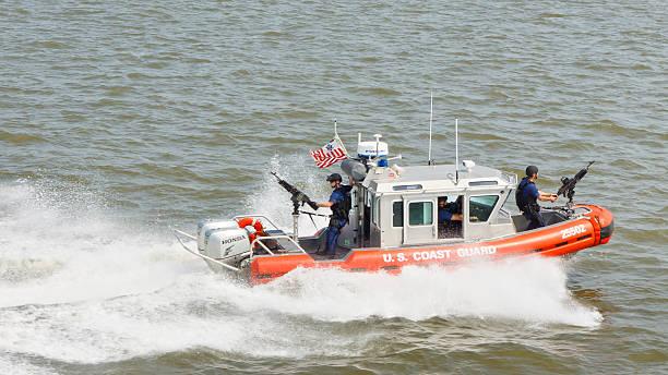 United States Coast Guard Patrol Boat stock photo