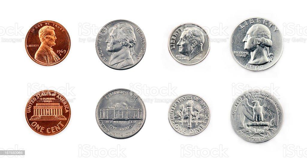 United States Coins - 免版稅20世紀風格圖庫照片