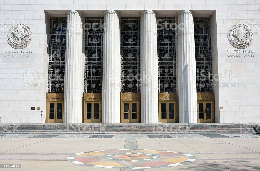 United States Court House in L.A. stock photo