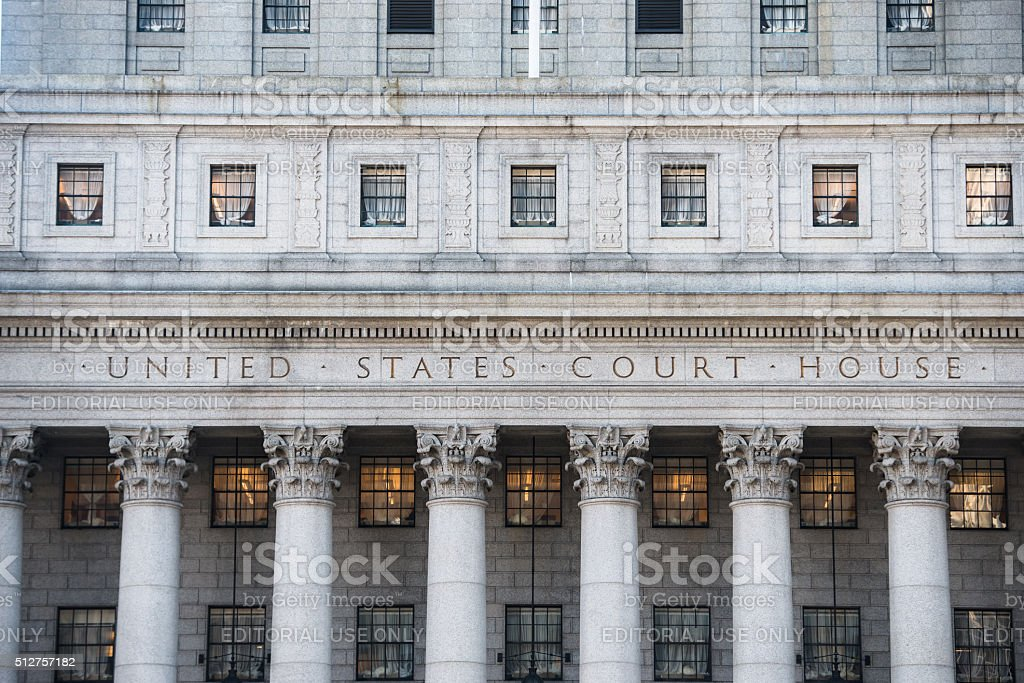 United States Court House in New York City stock photo
