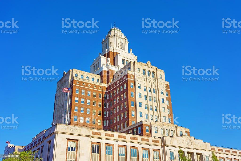 United States Custom House in Chestnut Street in Philadelphia PA stock photo
