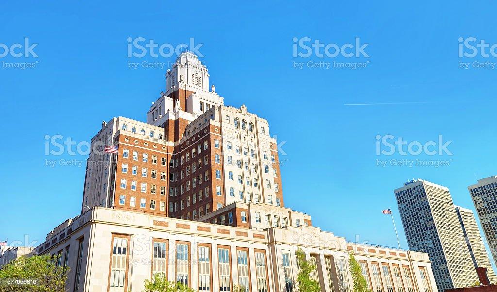 United States Custom House in Chestnut Street in Philadelphia stock photo