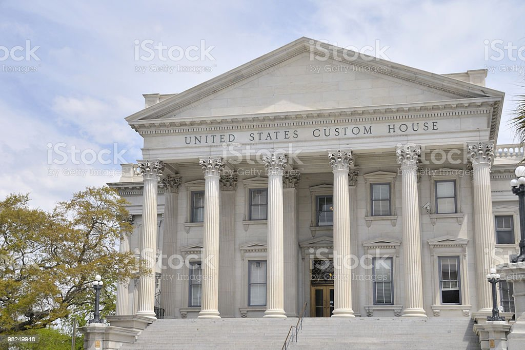 United States Customs House, Charleston, South Carolina royalty-free stock photo