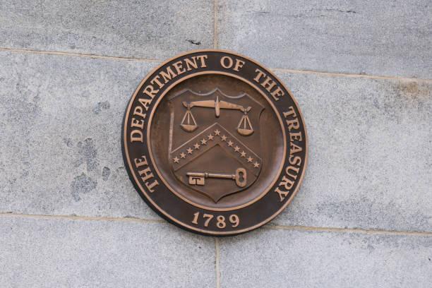 Estados Unidos Departamento de la Junta de Hacienda - foto de stock