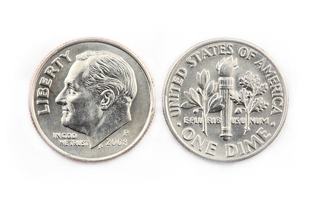 United States Dime United States ten cent coin. dime stock pictures, royalty-free photos & images
