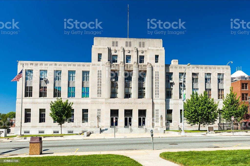 United States District Court In Greensboro, North Carolina stock photo